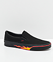 Vans Classic Slip-On Flame zapatos negros