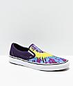 Vans Classic Slip-On Misterio Tie Dye Skate Shoes