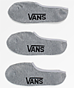Vans Classic Super 3 Pack No Show Heather Grey Socks