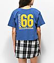Vans Drop 66 Blue Crop T-Shirt