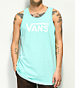 Vans Drop V camiseta sin mangas de color menta