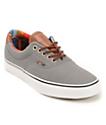 Vans Era 59 zapatos de skate en gris y rayado