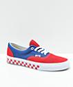 Vans Era BMX zapatos de skate a cuadros en azul, rojo y blanco
