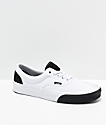 Vans Era Color Block White & Black Skate Shoes