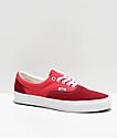 Vans Era Retro Biking Red, Poinsettia & White Skate Shoes