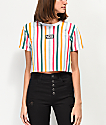 Vans Front Row Vertical Striped Crop T-Shirt