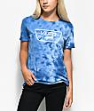 Vans Full Patch Boyfriend camiseta azul con efecto tie dye