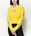 Vans Iridescent Box Yellow Long Sleeve Crop T-Shirt