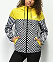 Vans Kastle II chaqueta cortavientos amarilla y de cuadros