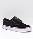 Vans Kids Chima Pro Black, Red & White Skate Shoes