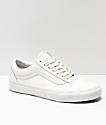 Vans Kids Old Skool Studs Sidewall White Skate Shoes