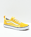 Vans Kids Old Skool Yellow & True White Skate Shoes