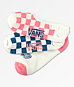 Vans L8r Checkerboard Canoodle 3 Pack No Show Socks