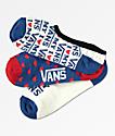Vans Love Canoodle paquete de 3 calcetines invisibles