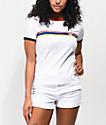 Vans Multicolor Striped White Ringer T-Shirt