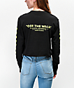 Vans Neon Check Black Crop Long Sleeve T-Shirt
