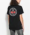 Vans OTW  Red Rose camiseta negra extra grande
