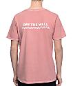 Vans OTW Check Pigment Dyed Rose T-Shirt