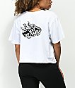 Vans Off The Wall Flame White Crop T-Shirt