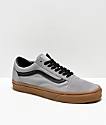 Vans Old Skool Alloy Grey, Black & Gum Skate Shoes