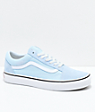 Vans Old Skool Baby Blue & True White Shoes