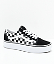 Vans Old Skool Black & White Checkered Platform Shoes