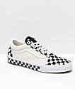 Vans Old Skool Black & White Checkered Sides Skate Shoes