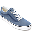 Vans Old Skool Blue Chambray Skate Shoes
