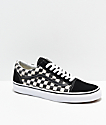 Vans Old Skool Blur Black & White Checkerboard Skate Shoes
