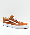 Vans Old Skool Brown Pig Suede Skate Shoes