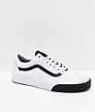 Vans Old Skool Color Block Black & White Skate Shoes