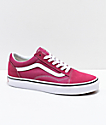Vans Old Skool Dry Rose & White Skate Shoes