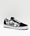 Vans Old Skool Forgotten Bones Black & White Skate Shoes