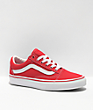 Vans Old Skool Formula Red & White Canvas Skate Shoes
