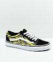 Vans Old Skool Green & Black Zebra Print Skate Shoes