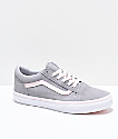 Vans Old Skool Grey & Light Pink Skate Shoes