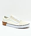 Vans Old Skool Gum Block zapatos de skate blancos