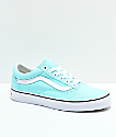 Vans Old Skool Island Paradise & White Skate Shoes