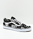 Vans Old Skool Logo Mix zapatos negros y blancos