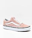 Vans Old Skool Mahogany Rose & White Skate Shoes