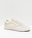 Vans Old Skool Marshmallow White Woven Checkerboard Skate Shoes
