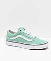 Vans Old Skool Neptune Green & White Skate Shoes