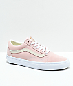 Vans Old Skool Pastel Peach & White Skate Shoes