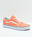 Vans Old Skool Peach Pink & True White Skate Shoes