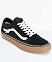 Vans Old Skool Pro Black, White & Gum Skate Shoes