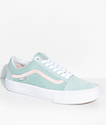 Vans Old Skool Pro Dan Lu Light Green & Pearl Skate Shoes