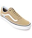 Vans Old Skool Pro Khaki & White Skate Shoes