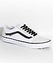Vans Old Skool Pro Off White, White & Black Skate Shoes