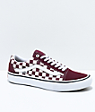 Vans Old Skool Pro Port Royal & White Checkered Skate Shoes