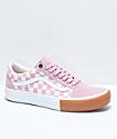 Vans Old Skool Pro Zephyr zapatos de skate de cuadros en rosa